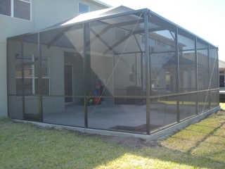 Patio and pool enclosure installation tampa bay wesley for Pool lanai cost